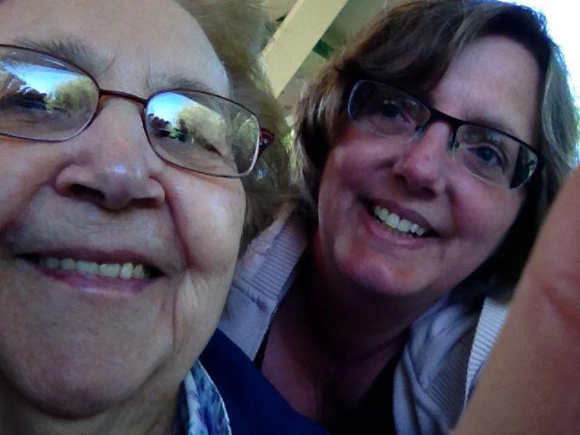 Selfie with my walking partner Erna .