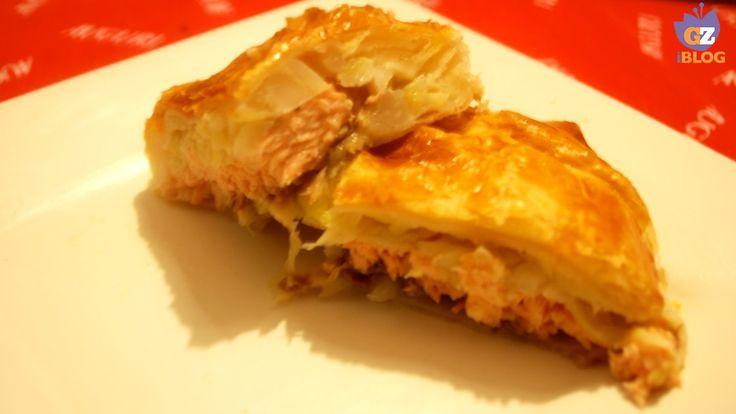Salmone in crosta con verza
