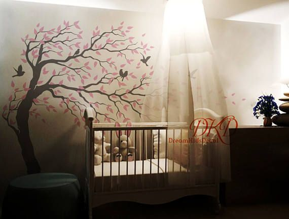 Tree wall Decal Wall Sticker Baby Nursery Decals-Cherry