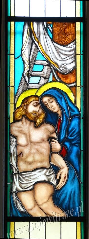 Zdjęcie Jezusa z krzyża witraż www.mojewitraze.pl