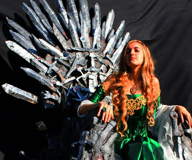 Pay the gold price and sit on your very own throne with this life size Game Of Thrones inspired replica of the Iron Throne. Featuring the swords of fallen cosplayers, the throne is truly the ultimate piece of furniture for your modern day castle.