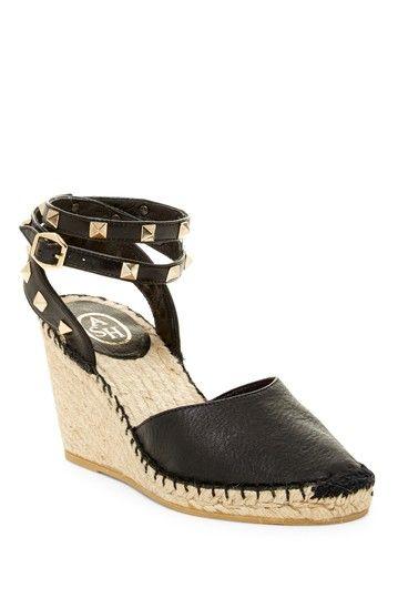Image of Ash Winona Studded Espadrille Wedge Sandal