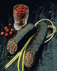 (blood sausage)Typical in Tampere, Finland