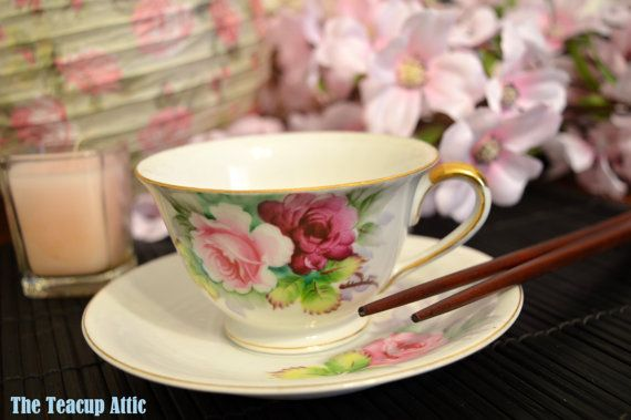 Hand painted Gold China Occupied Japan Teacup by TheTeacupAttic