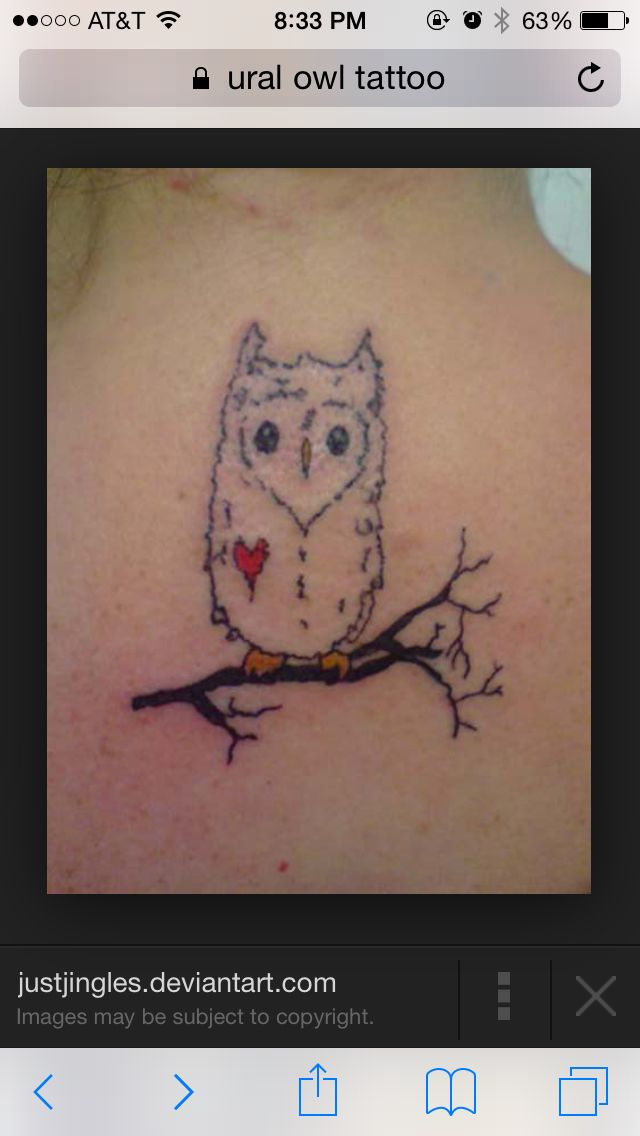 Ural Owl Tattoo Idea