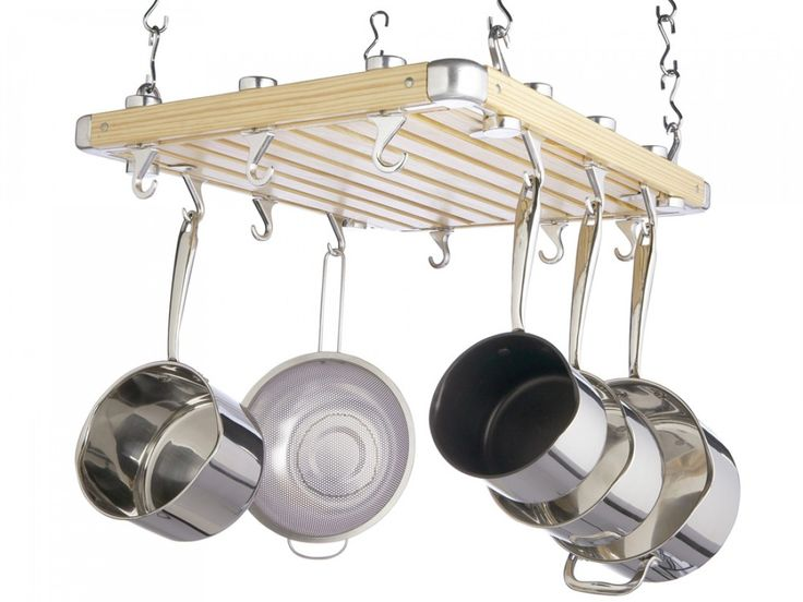 1000 Ideas About Pan Rack On Pinterest Pot Racks Hanging Pots And Wall Mounted Kitchen Storage
