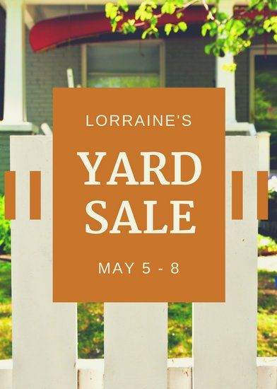 Have a successful yard sale. Custom yard signs help you draw attention.