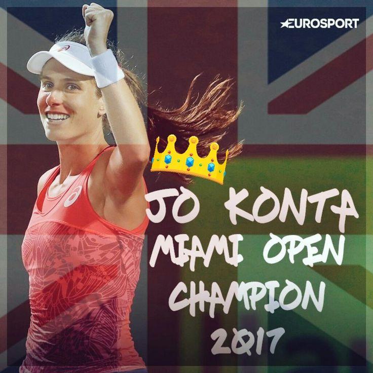 "Pic Via Bibi P. Luche: Jo Konta wins biggest title of career with Miami Open victory over Caroline Wozniacki. ""I'm British. That's home. That's where my ties are. That's where my home is."" ~ Jo Konta.  http://todayusa.news/2017/04/01/jo-konta-wins-biggest-title-of-career-with-miami-open-victory-over-caroline-wozniacki/ …"