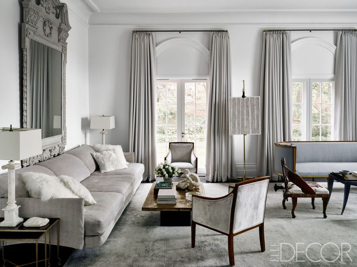 20 Grey Living Room Ideas For Gorgeous And Elegant Spaces: HOUSE TOUR: An Internet Mogul's Georgian-Style Manse Is A