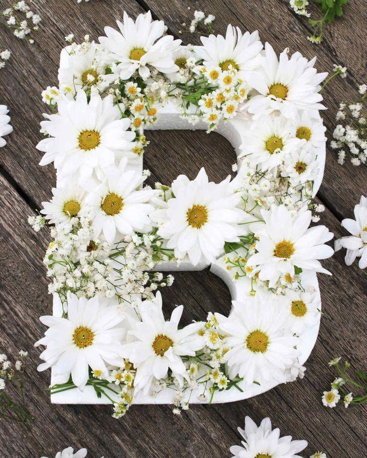diy floral monogram step 4                                                                                                                                                                                 More