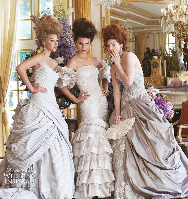 Ian Stuart 2011 Revolution Rocks! bridal collection - Libertine, Castille, Dauphine wedding gowns for a Marie Antoinette inspired wedding