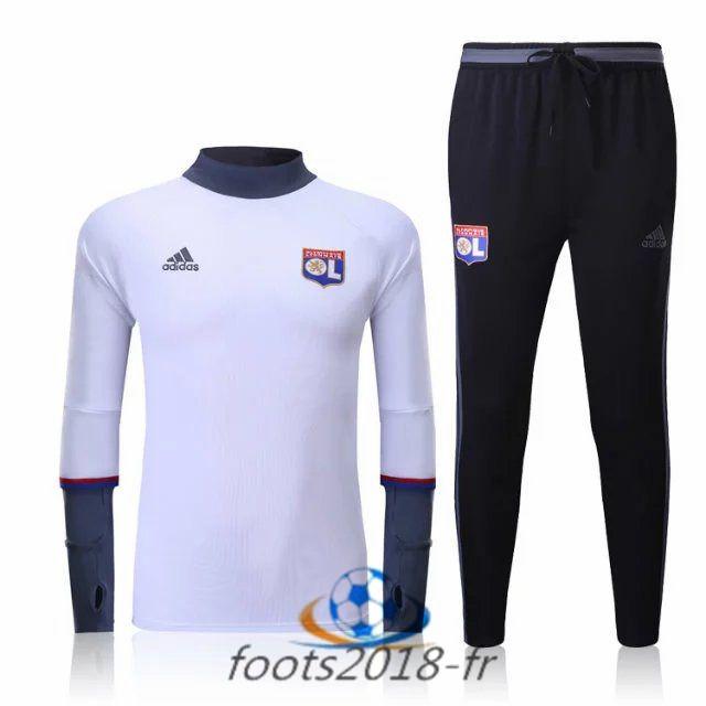 Nouveau Survetement de foot Lyon OL Blanc 2016 2017