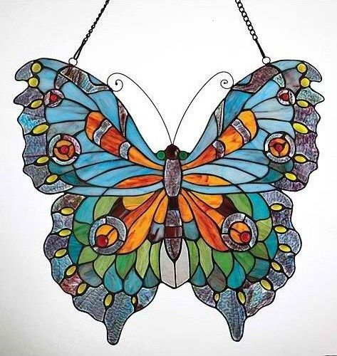 316 best stained glass butterflies dragonflies images on for Butterfly stained glass craft