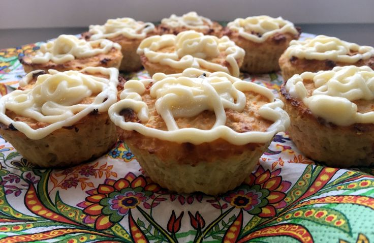 Творожно-овсяные кексы с грецким орехом