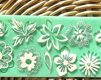 sugar lace mat flower leaf sugar lace mold cake mould silicone baking tools kitchen accessories decorations for cakes Fondant border mold