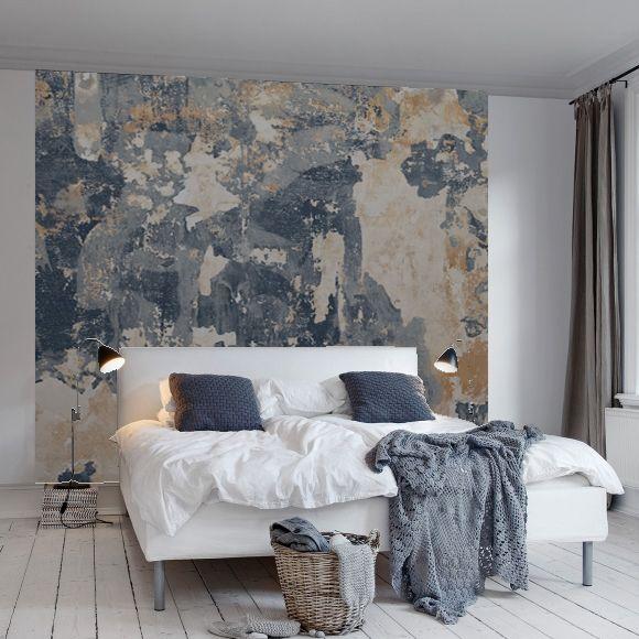 Papier peint trompe l il mur en b ton color rebel walls - Papier peint trompe loeil ...