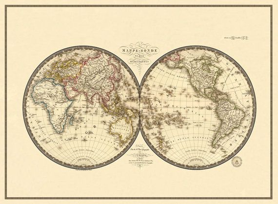 70 best maps images on pinterest map world wide map and antique world map print 22 x 30 large format sciox Image collections