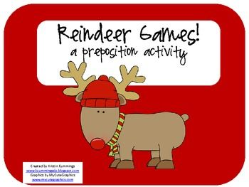 Reindeer Games! a preposition activity! - Pinned by @PediaStaff – Please Visit ht.ly/63sNtfor all our pediatric therapy pins