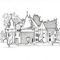 Château à télécharger et à colorier