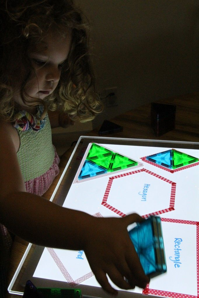 magnatiles on light table                                                       …