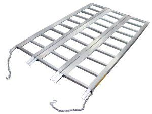 TMS RP-TRIFOLD-ALR6945B 69-Inch by 45-Inch Super-Wide Tri-Fold ATV Loading Ramp,  Aluminum by T-Motorsports. $79.17. From the Manufacturer                One ramp handles your ATV, lawn tractor or motorcycles. No more struggling to position individual ramps. Folds compactly for easy storage. Sturdy enough for the heaviest loads.                                    Product Description                One ramp handles your ATV, lawn tractor or motorcycles. No more struggling to po...