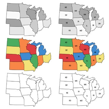 Midwest Interactive Map, Facts, Statistics, Games and ...