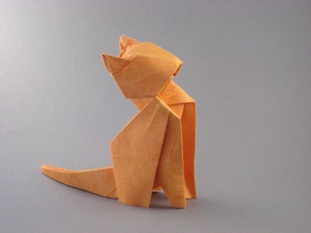 make origami cat kitten folding instructions
