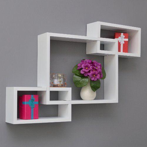 4 set xl lounge cube shelf design retro wall shelf stand shelf hanging shelf white matt http