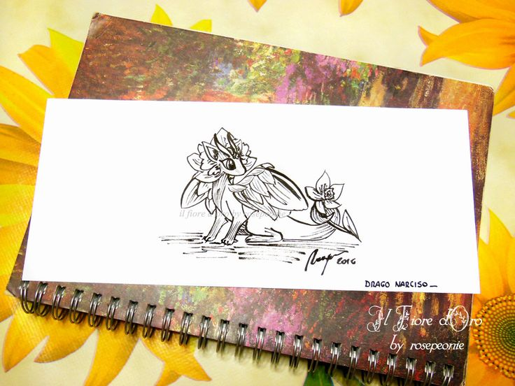 Drago Fiore del Narciso. Disegno Haiku, illustrazione fantasy originale a inchiostro su carta alta qualità, drago mito collezione arte fiori di ilFioredOro su Etsy https://www.etsy.com/it/listing/293642837/drago-fiore-del-narciso-disegno-haiku