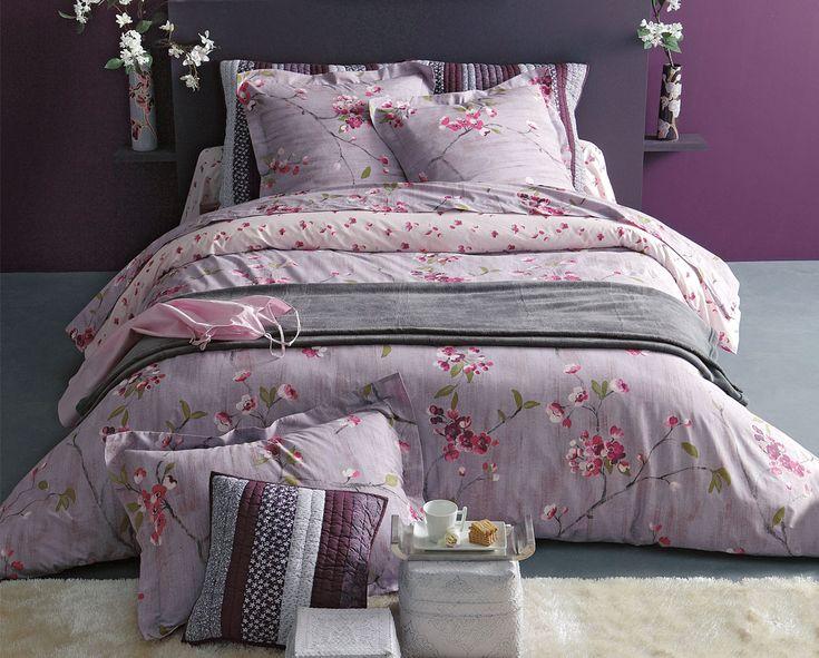 linge de lit cerisiers en fleurs fleurs de cerisier pinterest cerisier en fleur cerisier. Black Bedroom Furniture Sets. Home Design Ideas