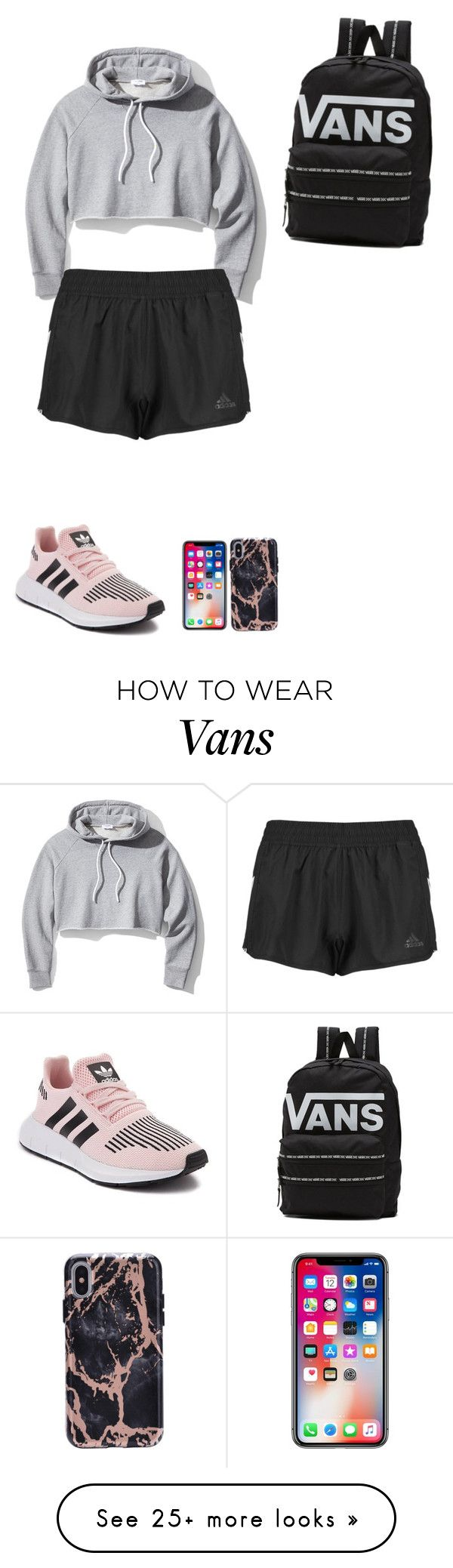 """""""My First Polyvore Outfit"""" by randikrueger on Polyvore featuring Frame, adidas and Vans"""