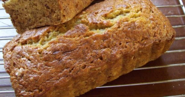 I found this along time ago on athe back of the Gold Medal flour bag, this is the best bananna bread recipe ever, I add walnuts...