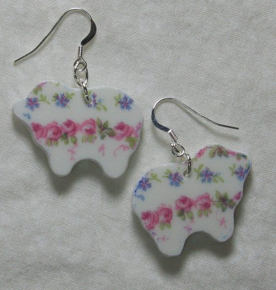 Roses China Sheep Earrings ONLY 2 SETS AVAILABLE