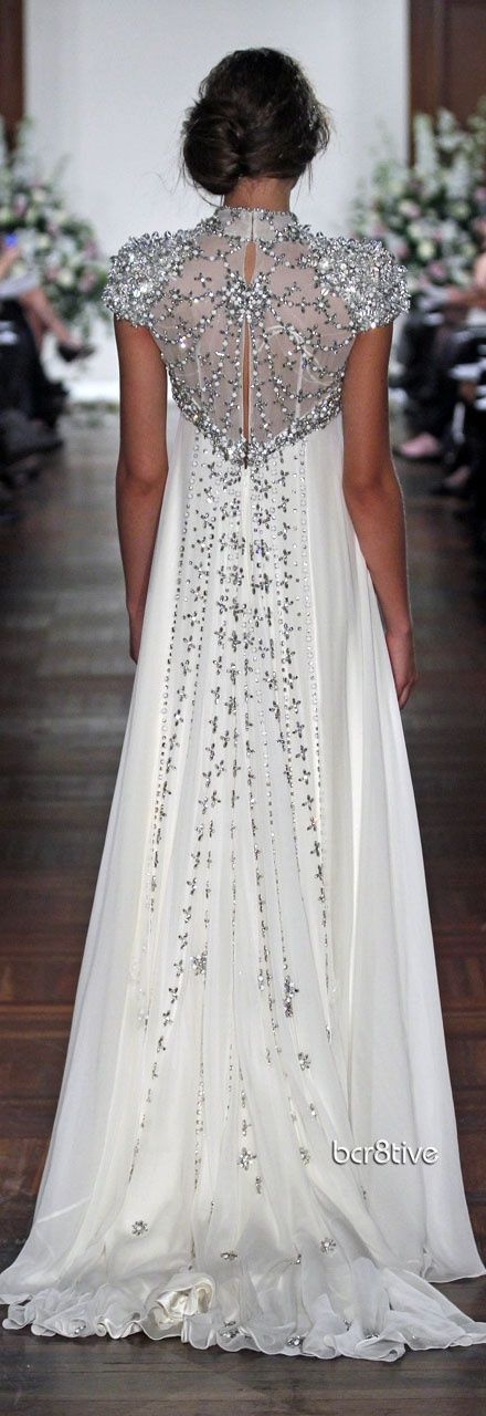 Beaded back gown