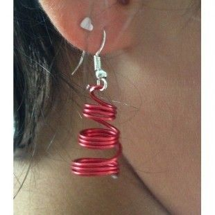 "Boucles d'oreille aluminium fil 1mm ""bijoux alu""  : Boucles d'oreille par izzie-bijoux"