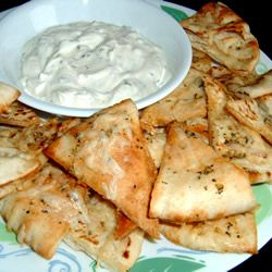Garlic Pita Bread Bites: Pita Breads, Garlic Pita, Garlic Breads, Breads Bites Healthy, Dips Sauces, Bites Healthy Alternative, Allrecipes Com, Bites Recipe, Fire Places