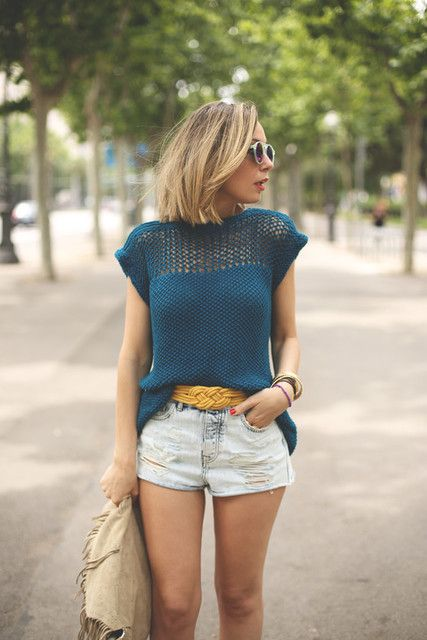 Juliet Tee | We Are Knitters (I'd love this in orange!)