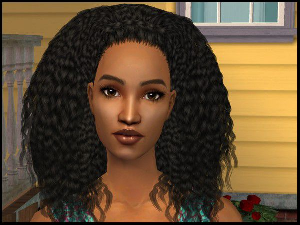 Miss April 2014, Iman, is by Astral Faery. Find her in our Sim of the Month Club. #Sims2 #downloads