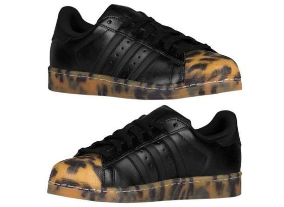 adidas superstar black leopard