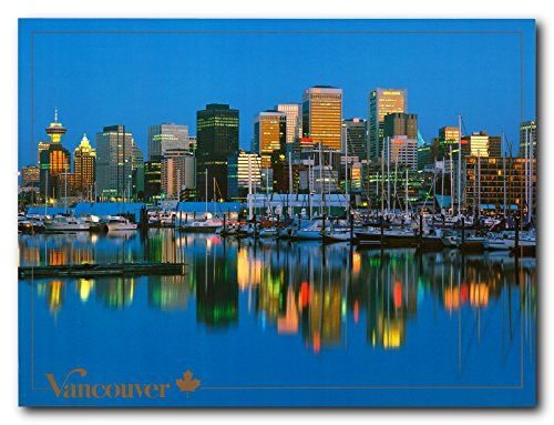 Vancouver Skyline British Columbia, Canada Wall Decor Art...…