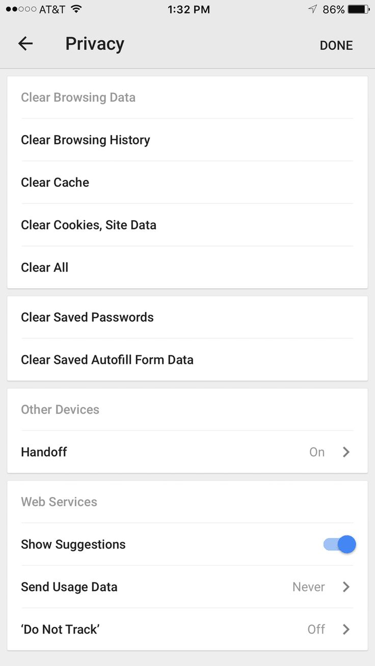 How To Clear Browsing Data In Chrome For Iphone Or Ipod Touch