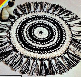 Hairpin Lace Circular Rug Pattern | Free Patterns | Yarn