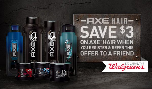 *High Value* $3.00/1 Axe Hair Product Coupon