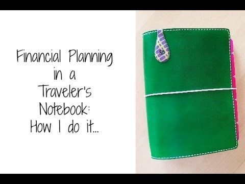 Financial Planning in a Traveler's Notebook by Desiree Peeples– Paper Planning Magazine