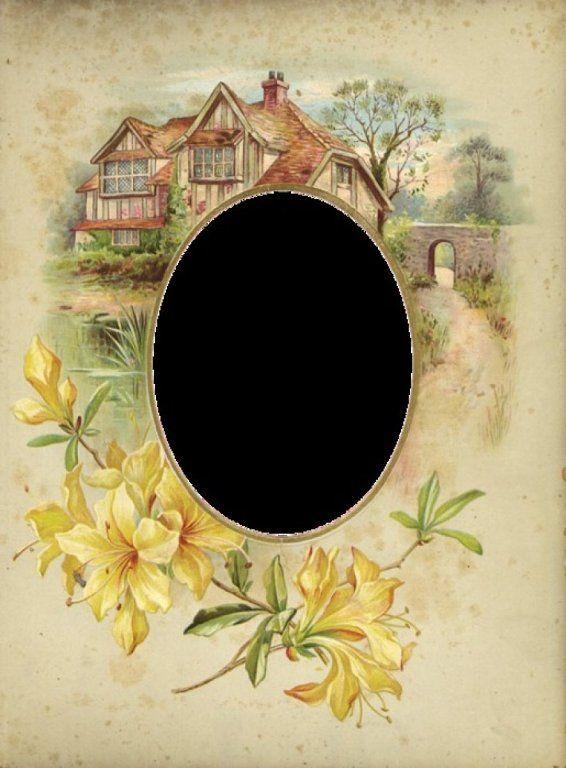 Vintage Cottage Frame   Frames, Labels & Journal Cards   Pinterest   Frame, Scrapbook and Vintage frames