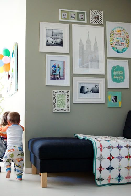 I love gallery walls with white frames!   # Pin++ for Pinterest #