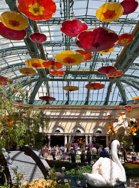Bellagio, Las Vegas More Dale Chihuly glass in the beautiful conservatory.