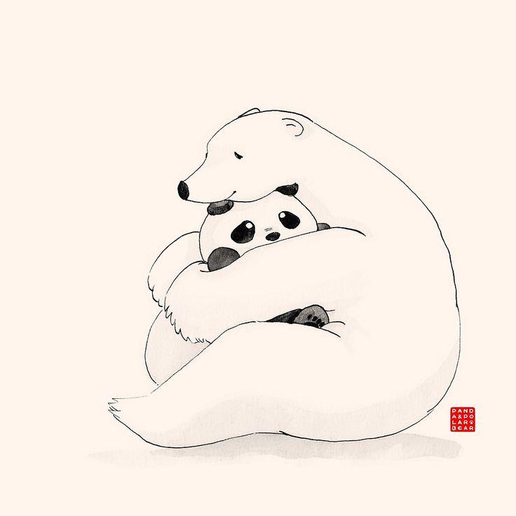 Nude polar bear clipart