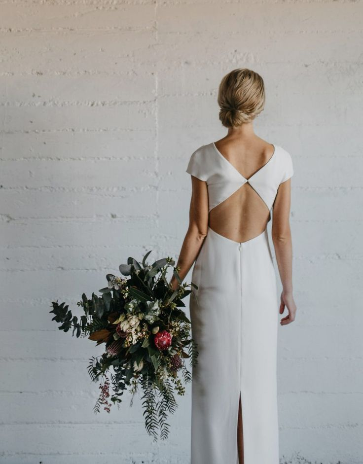 Diamond backless wedding dress by Carla Zampatti