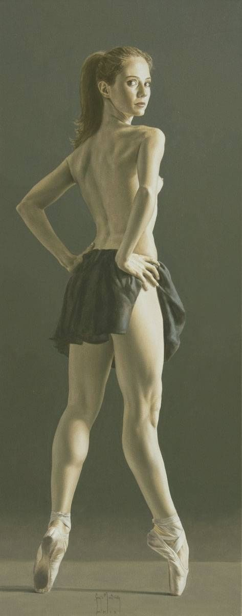Sergio Martinez Cifuentes Frm Aleksis Ka's bd: ART - female dancer - painting - #S0FT